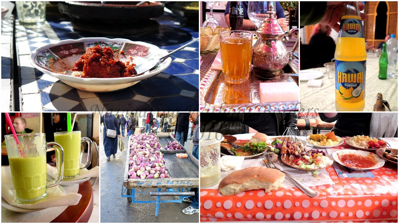 maroc food collage