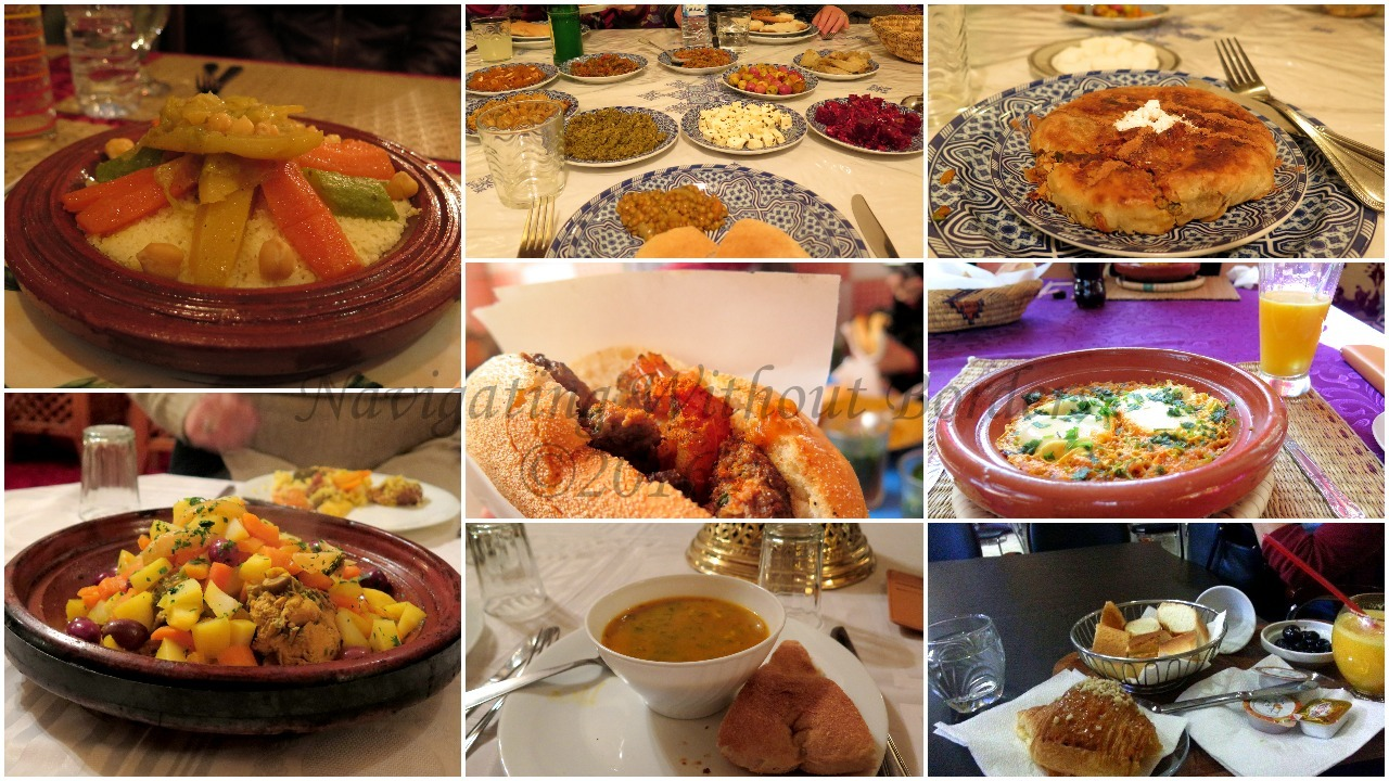 morocco food collage